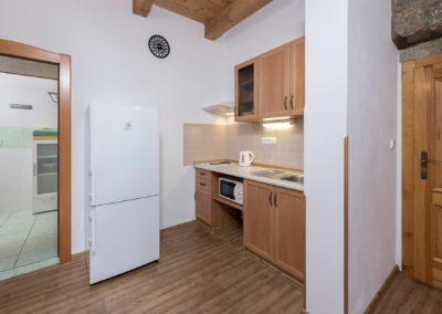 Jizerské hory ubytování penzion Solaris - apartmán č.2 kuchyně