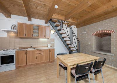 Jizerské hory ubytování penzion Solaris - apartmán č.5 kuchyně