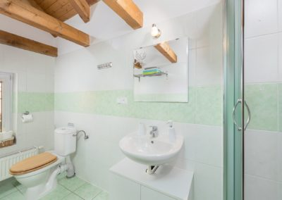 Jizerské hory ubytování penzion Solaris - apartmán č.3 koupelna