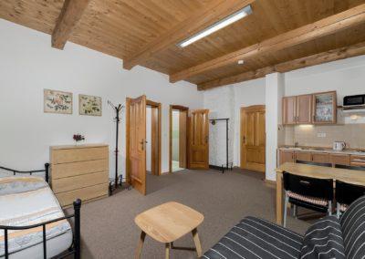 Jizerské hory ubytování penzion Solaris - apartmán č.1 obývací pokoj