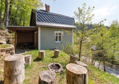 Jizerské hory ubytování penzion Solaris - apartmán č.7 Baráček, ohniště