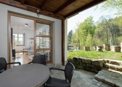 Jizerské hory ubytování penzion Solaris - apartmán č.7 Baráček, terasa